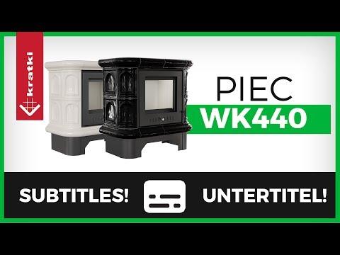 Кафельная печь-камин Kratki WK440 (видео)