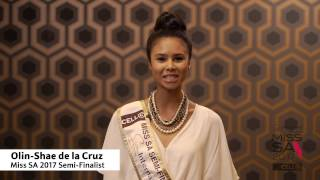 Introduction Video of Olin Shae de la Cruz Miss South Africa 2017 Contestant from Johannesburg, Gauteng