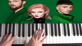 Clean Bandit ft. Charli XCX & Bhad Bhabie - Playboy Style - Piano Tutorial