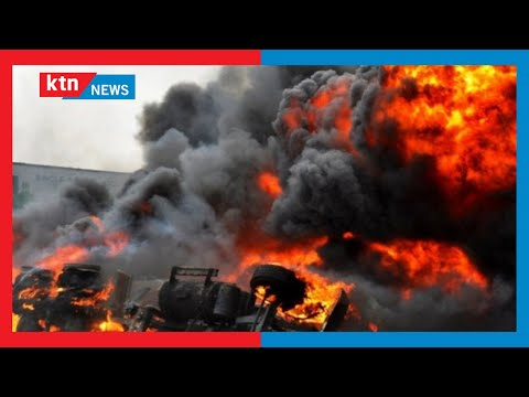 Fuel tanker explodes, kills 13 people as they siphoned fuel at the dead of the night in Yala