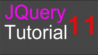 JQuery Tutorial for Beginners - 11 - Add and remove classes