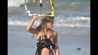 Extreme Kitesurfing Jumps In Ho'okipa Maui, Hawaii Islands