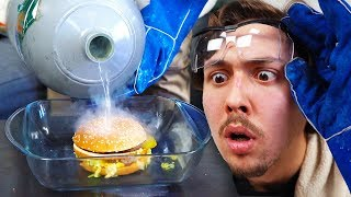 Mettre des objets dans l'azote liquide