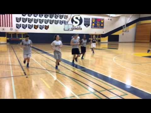 Solon girls basketball team practices before trip to OHSAA State Tournament 2015