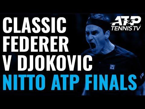 Classic Roger Federer Winners & Match Point vs Djokovic!   ATP Finals 2019