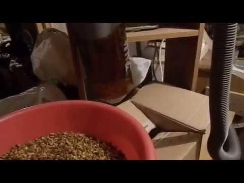 Пергомёт, очистка перги от воска