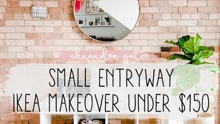 Small Entryway Ikea Makeover Under $150 | My Rental Reno S1 E4