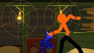 рисуем мультфильмы стикман против робота