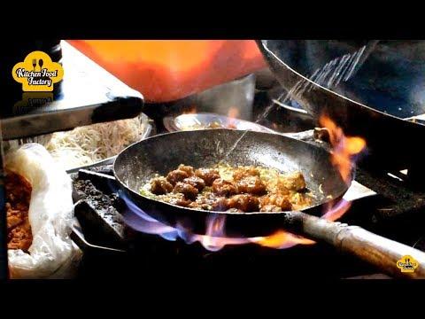 Roadside Veg Manchurian Making | Kakinada Special Street Foods | Veg Recipes | Kitchen Food Factory