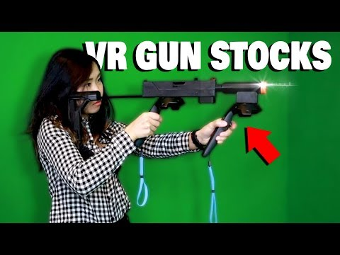 UP YOUR GAME WITH A VR GUN STOCK! - Mac11VR Rifle Controller Setup