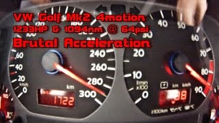 VW Golf 1233HP 0-290 in 9s Brutal Acceleration 2016 part4