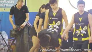 Kathryn taking care of Daniel during the basketball game (KathNiel)