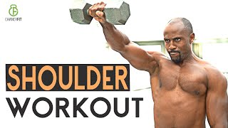 THE BEST 4 MINUTE SHOULDER WORKOUT WITH DUMBBELL AT HOME (BUILD MUSCULAR SH