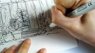 UCHIDA #4600耐水性代用針筆 (描繪篇)