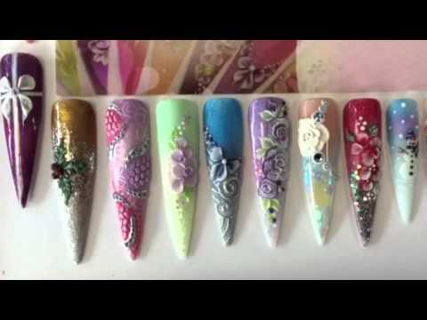 3D nail art course - YouTube
