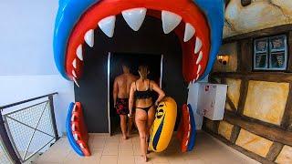 Aquapark Reda | All Water Slides (with Shark Slide & AquaSpinner)