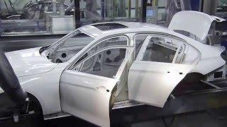 Как роботы красят машины БМВ + As robots color BMW car