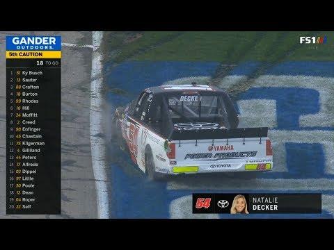 NASCAR Gander Outdoors Truck Series 2019. Atlanta Motor Speedway. Natalie Decker Spins again