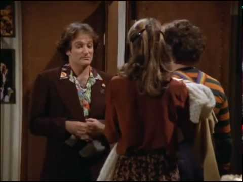 "Mork & Mindy meet Robin Williams. This and the ""final report"" scene were really sad in retrospect to how he passed."