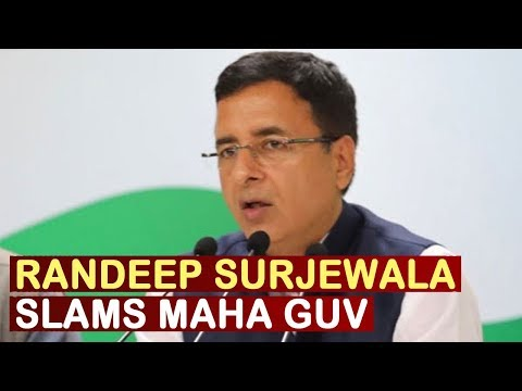 Surjewala: Maha Guv Committed Grave Travesty Of Democracy