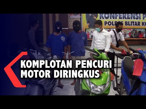 komplotan pencuri motor antar kota ditangkap polisi