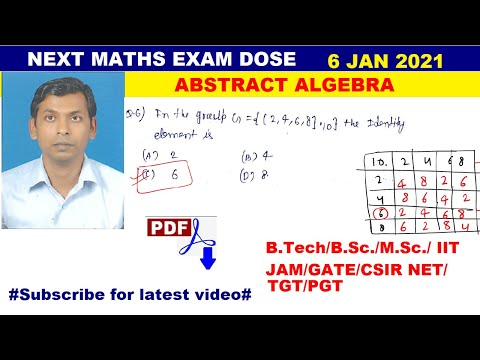 #01 next maths exam dose | mcq of abstract algebra | number of ...