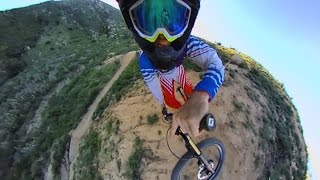 Downhill Mountain Biking With 360fly Camera - 360 Video!