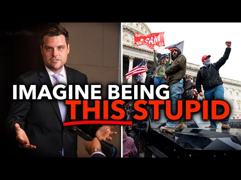 Guess Who Matt Gaetz Blames For the Pro-Trump Mob That Stormed the U.S. Capitol