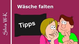 Tipps / Wäsche falten / Spannbetttuch, T-Shirt, Unterhemden, Handtücher