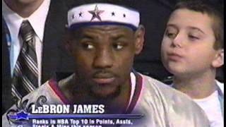 LeBron James' First All-Star Appearance
