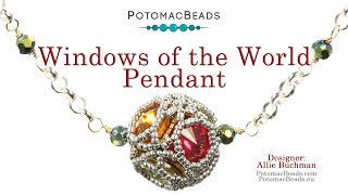 Windows Of The World  DIY Jewelry Making Tutorial By PotomacBeads