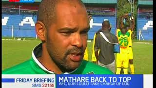 Mathare United climb to the top of the KPL table after beating Chemelil Sugar
