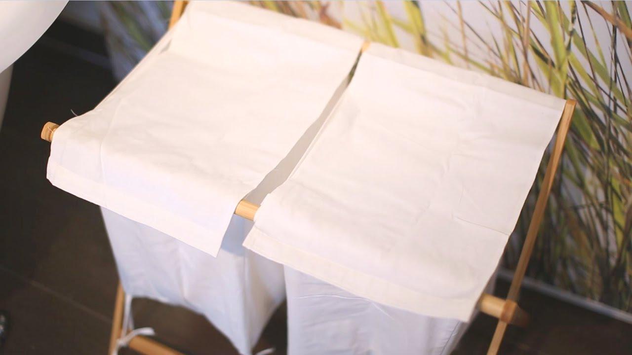 Video von: Wäschesammler Bambus LINEA faltbar