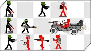 НА ДЖИПЕ ПРОТИВ СТИКМЕНОВ - Stickman Army The Defenders