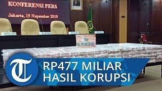 Penampakan Eksekusi Tumpukan Uang Hasil Korupsi Kokos Liem Senilai Rp477 Miliar