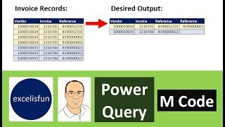 Power Query M Code Group By Formula to Transform Invoice Table -  Excel Magic Trick 1576