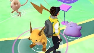 Raichu  - (Pokémon) - HUNTING FOR DITTO! Wild Raichu Spawned Nearby While Searching for Ditto in Pokemon GO