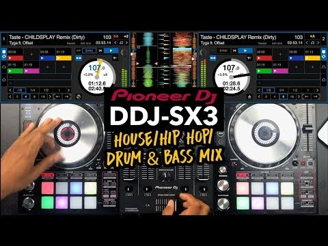 Pioneer DDJ SX3 – House / Hip Hop / Drum & Bass Mix – #SundayDJSkills