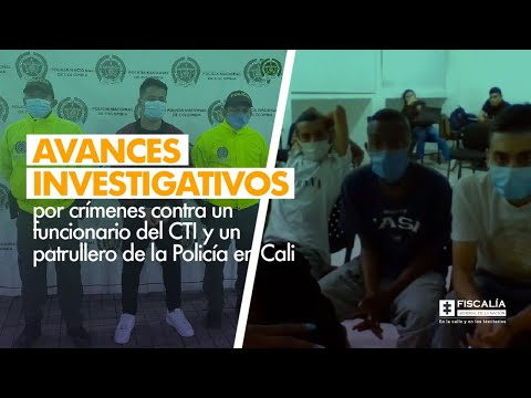 Fiscal Barbosa: Avances investigativos por crímenes contra funcionario de CTI y patrullero en Cali