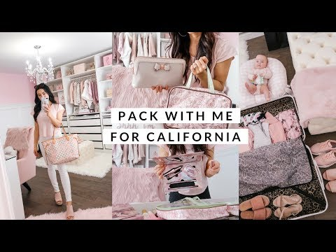 PACK WITH ME FOR CALIFORNIA!🌞TRAVEL MAKEUP AND SKINCARE!