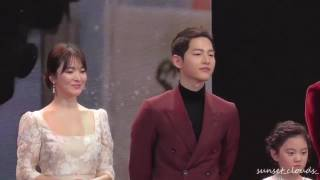 [Fancam] 161231 송중기 송혜교 Song Joong Ki Song Hye Kyo KBS Drama Awards 宋仲基 宋慧乔