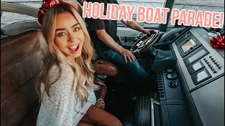 holiday boat parade on a yacht! vlogmas day 19!