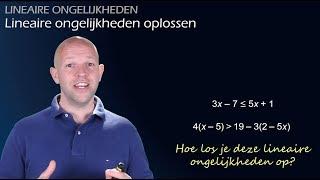 Hoe los je een lineaire ongelijkheid op? (vwo 3) - WiskundeAcademie
