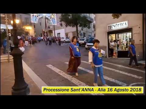 Processione Sant`Anna - Alia 16 Agosto 2018