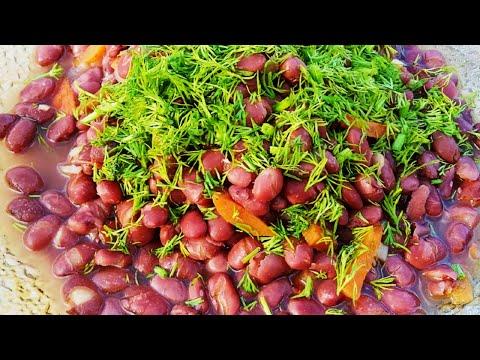 Фасоль в казане на костре в томатном соусе с овощами! Вкусно и полезно!
