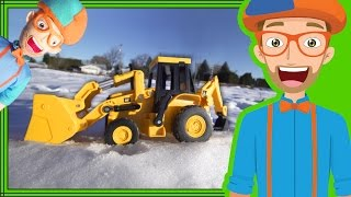 Fun in the Snow with Blippi Plush Doll and Backhoe Digger