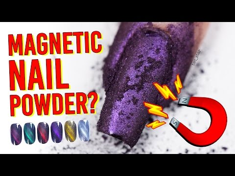 Testing Magnetic Nail Art Powder - Does It Work???