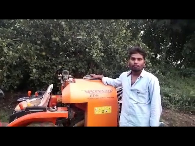 Grapemaster Bullet+ used for Citrus Orchards by Customer -Atul Wavhal
