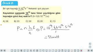 Eğitim Vadisi AYT Fizik 20.Föy Modern Fizik Konu Anlatım Videoları