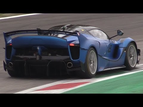 Ferrari FXXK EVO First Time at Monza Circuit-V12 Pure Sound at Finali Mondiali